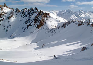 Skiing in the Patagonian Andes