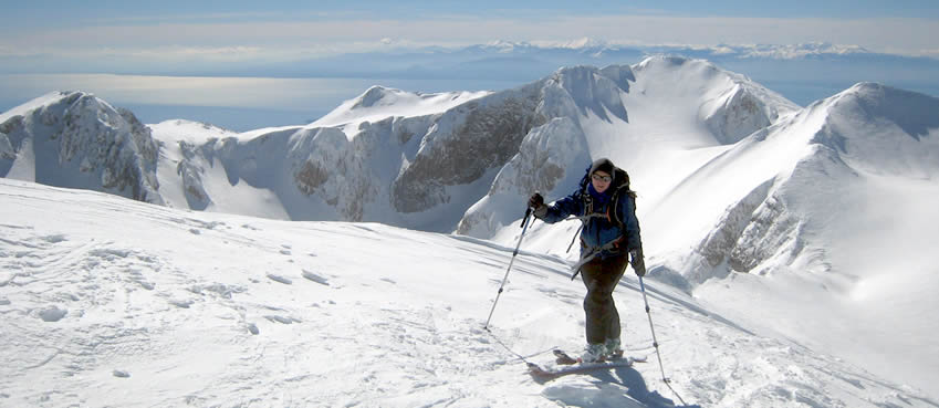 Alpine ski touring, Greece